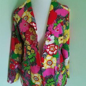 Vintage Monique Flowered Jacket